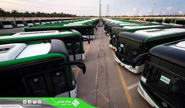 الرياض: وصول 319 حافلة.. والتشغيل نهاية 2019