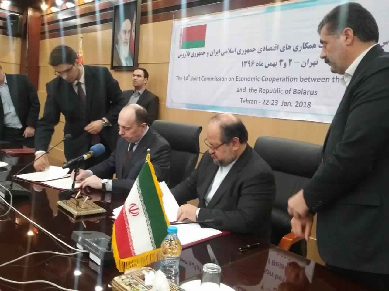 Iran, Belarus sign 8 documents for bilateral cooperation