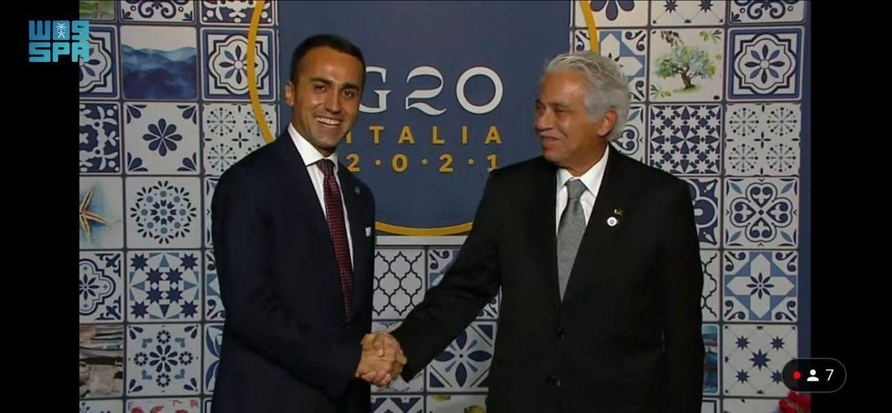 القصبي يشارك في حفل عشاء رؤساء وفود التجارة لمجموعة العشرين في إيطاليا